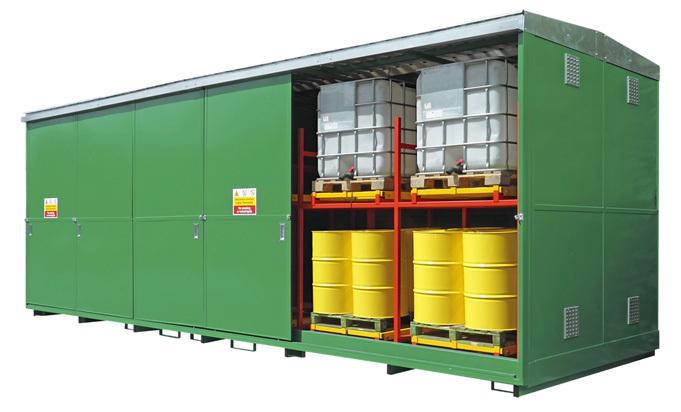 IPE Space saving drum and IBC bunded storage