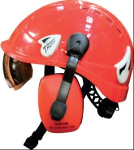 Height safety helmet gives a clear upward view